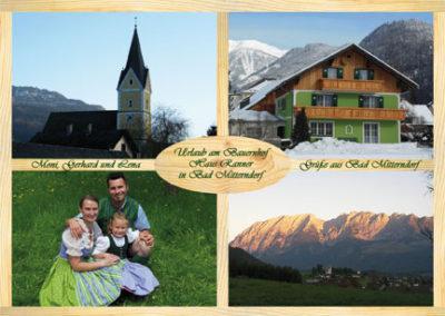 Haus Ranner – Postkarten für Buchungsbestätigungen, Glückwünsche, etc.