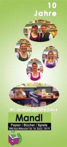 Buchhandlung Mandl - Beachflag zum 10-jährigen Jubiläum