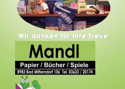 Beachflag – Buchhandlung Mandl zum 10-jährigen Jubiläum