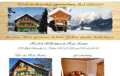Haus Ranner – Nichtraucherferienwohnung in Bad Mitterndorf, auch für Allergiker geeignet