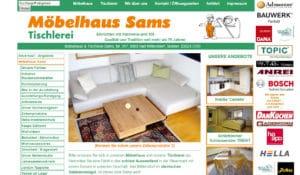 Referenz Internetauftritt Möbelhaus und Tischlerei Sams
