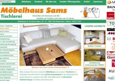 Möbel Sams – Möbelhaus und Tischlerei – Maßmöbel von Meisterhand im steirischen Salzkammergut