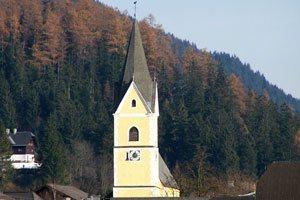 Nutzerfreundlichkeit und Aktualität - Kirchturm der Pfarrei St. Margaretha in Bad Mitterndorf