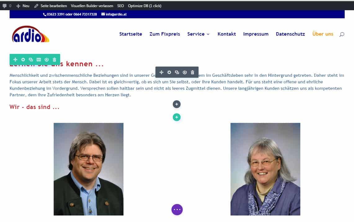 Beipielbild 1 für Divi Visual Builder