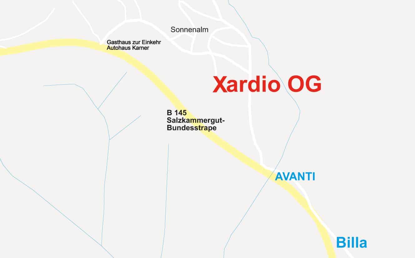 Anfahrtsskizze zu ardio OG, Sonnenalm 30, 8983 Bad Mitterndorf